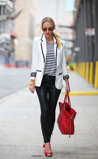 Συνδυασμοί για ντύσιμο με άσπρο σακάκι (39)