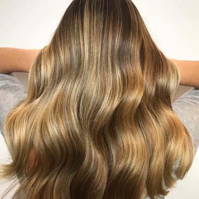 Multi toned bronde βαφή μαλλιών