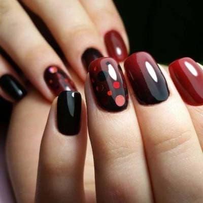 Σχέδια για μαύρα νύχια (50)
