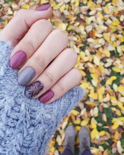 Φθινοπωρινά σχέδια για νύχια (14)
