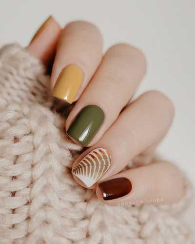 Φθινοπωρινά σχέδια για νύχια (41)