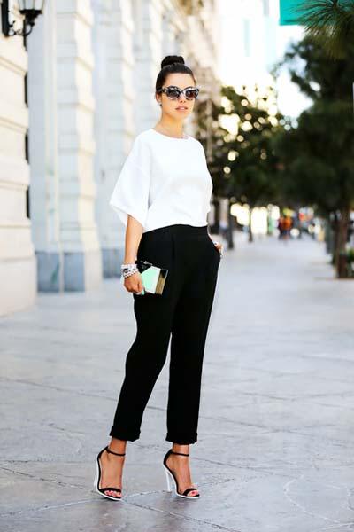 Συνδυασμοί με μαύρο παντελόνι (33)