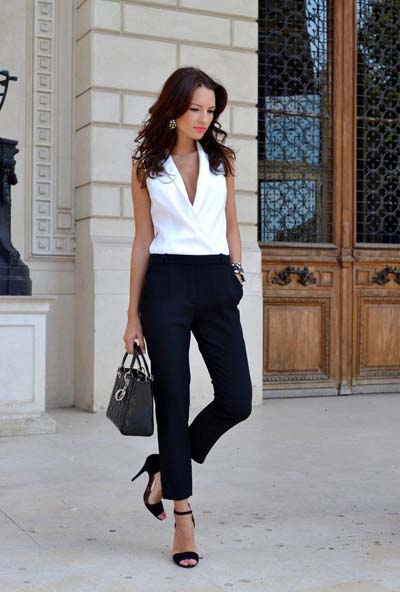 Συνδυασμοί με μαύρο παντελόνι (34)