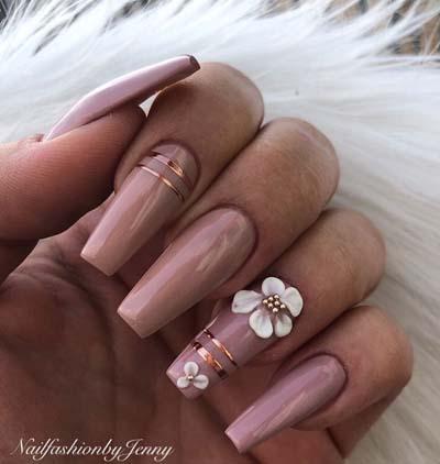Σχέδια για μπεζ νύχια (6)