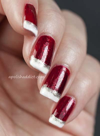 Γαλλικό στα νύχια που θυμίζει Άγιο Βασίλη