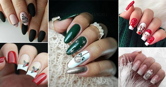 Σχέδια στα νύχια για τα Χριστούγεννα (44)