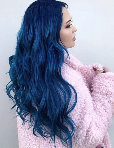 Classic blue hair color