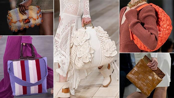 Πλεκτές τσάντες με μαλλί, δέρμα ή χάντρες