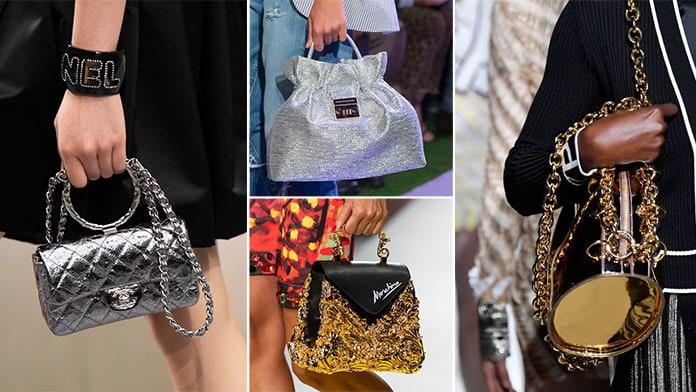 Αστραφτερές τσάντες με glitter, μεταλλικά χρώματα και χρυσές αποχρώσεις