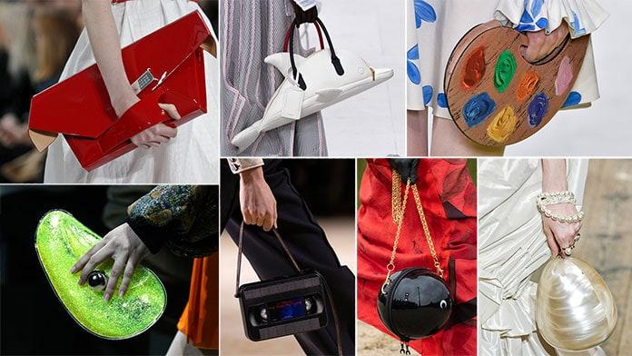 Τσάντες σε περίεργα καθημερινά αντικείμενα και γεωμετρικά σχήματα