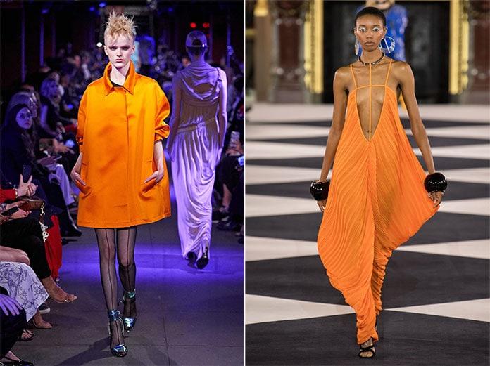Πορτοκαλί αποχρώσεις Flame Orange και Orange Peel
