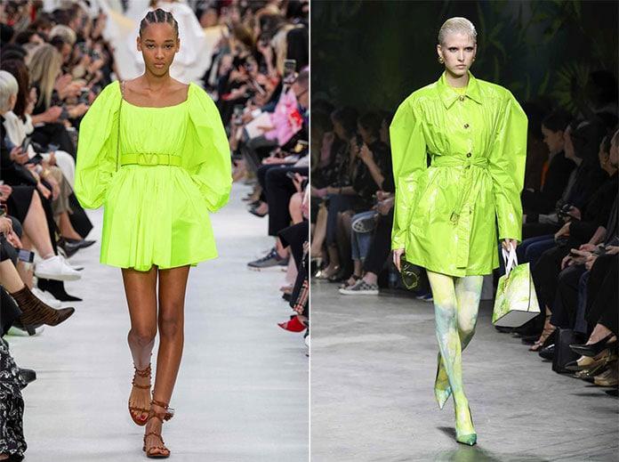 Νέον πράσινο – κίτρινες αποχρώσεις