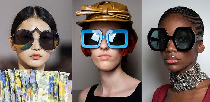 Oversized γυαλιά ηλίου σε στρογγυλά, τετράγωνα και ιδιαίτερα σχήματα