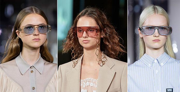 Διάφανοι σκελετοί και φακοί στα γυαλιά ηλίου