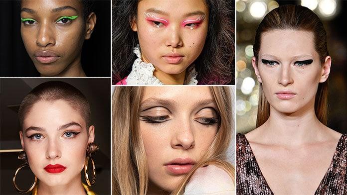 Κλασσική και εναλλακτική μαύρη, λευκή ή χρωματιστή γραμμή eyeliner