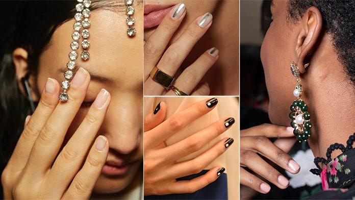 Άβαφα νύχια ή με μινιμαλιστικά σχέδια