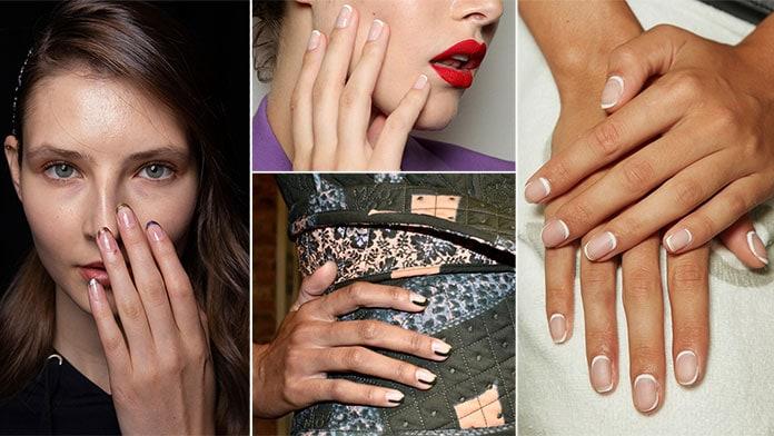 Κλασσικό γαλλικό στα νύχια, αλλά και πολύχρωμες παραλλαγές