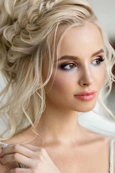 Νυφικό μακιγιάζ για ξανθιές με καστανά μάτια