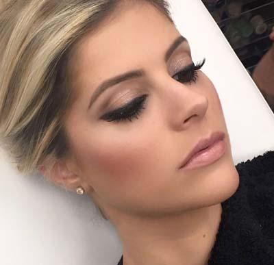 Απαλό νυφικό makeup σε γήινες αποχρώσεις για καστανά μάτια