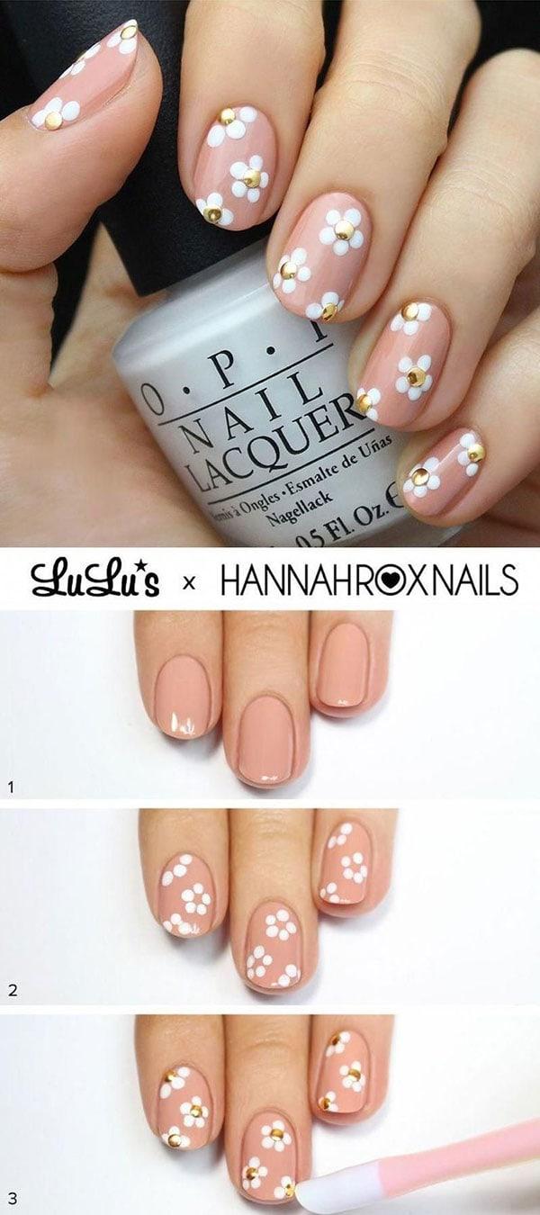 Φλοράλ σχέδιο στα νύχια