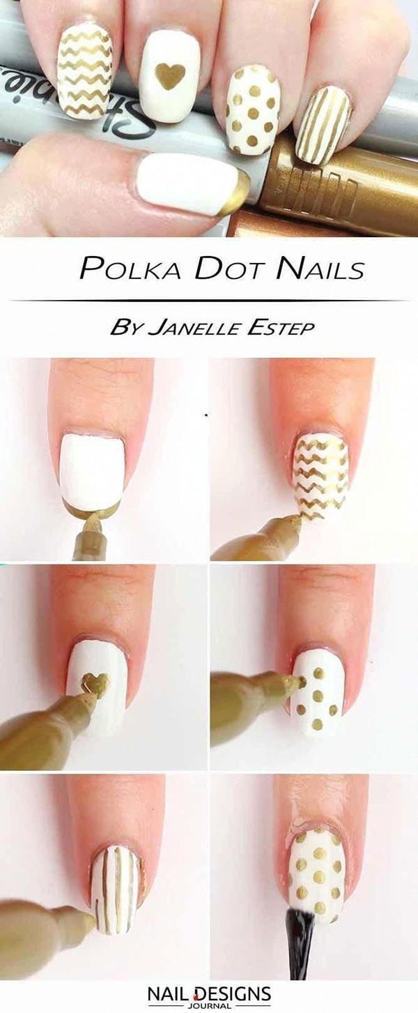 Εύκολα nail art με μαρκαδόρο