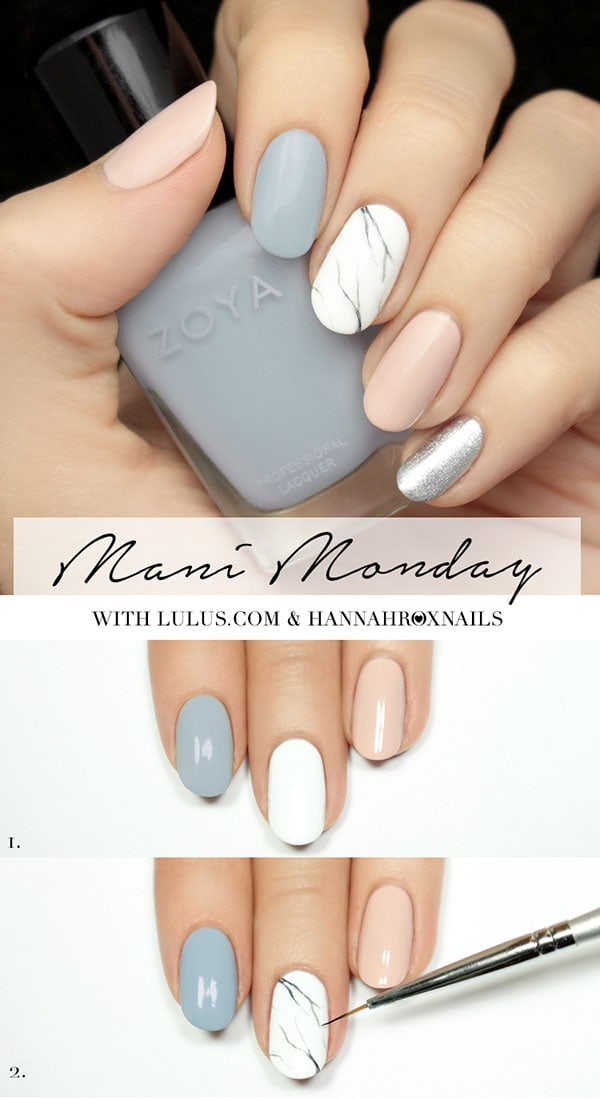 Εύκολα και όμορφα νύχια μάρμαρο