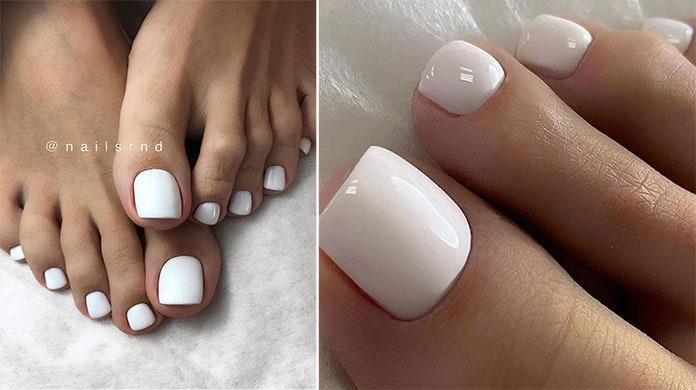 Άσπρα νύχια ποδιών