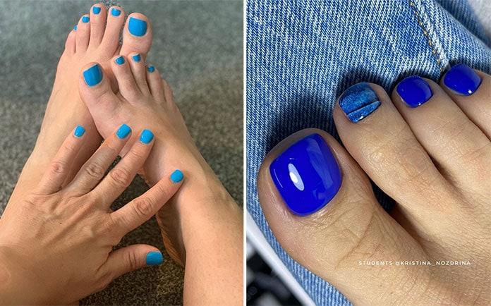 Μπλε νύχια ποδιών