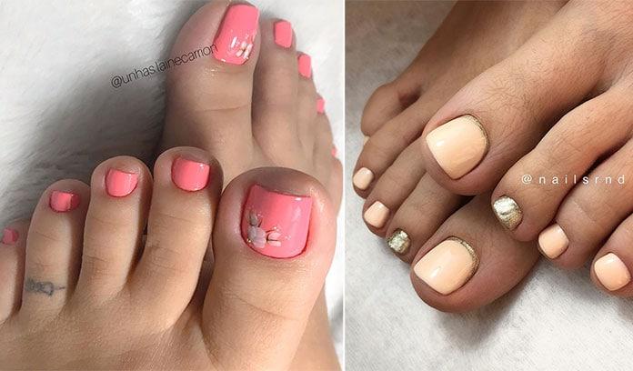 Ροδακινί νύχια ποδιών