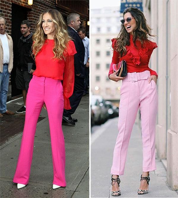 Εντυπωσιακός χρωματικός συνδυασμός ροζ ή φούξια με κόκκινο
