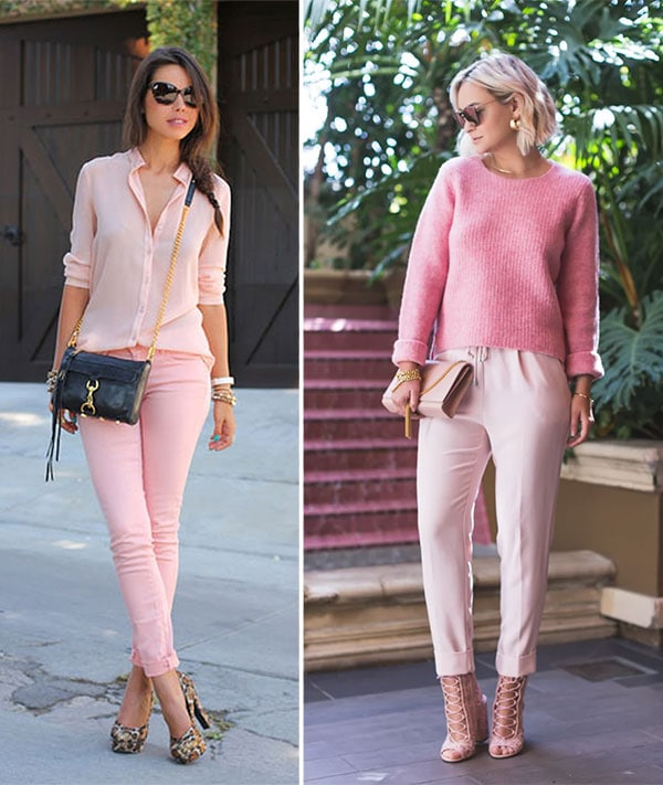 Total pink outfits