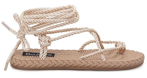 Lace up σανδάλια με σχοινί - Bozikis