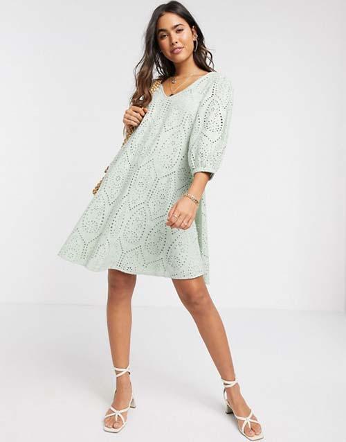 Κοντό γκιπούρ φιστικί φόρεμα σε Α γραμμή - ASOS / Y.A.S