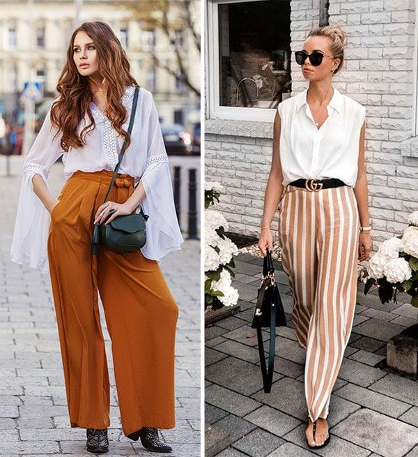 Σύνολο με παντελόνα και πουκαμίσα ή αμάνικο πουκάμισο