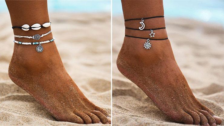 Boho style βραχιόλια για το πόδι