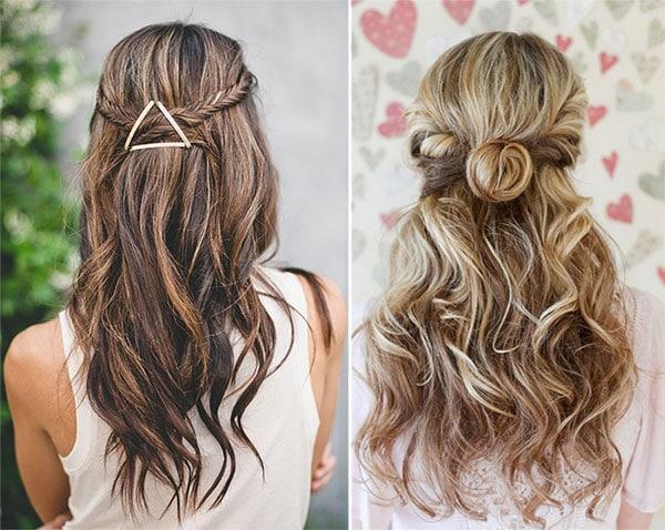 Καλοκαιρινά χτενίσματα με τα μισά μαλλιά πάνω