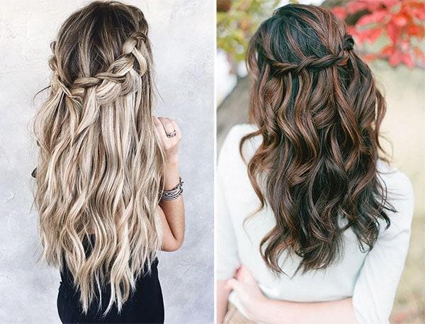Καλοκαιρινά χτενίσματα για σγουρομάλλες με τα μισά μαλλιά πάνω