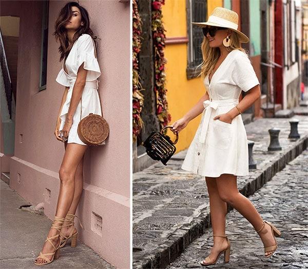 Κοντό λευκό φόρεμα