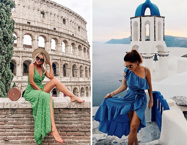 Μακρύ αέρινο καλοκαιρινό φόρεμα