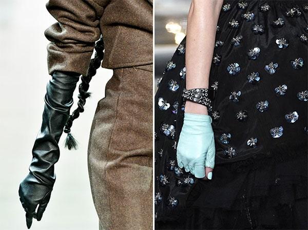 Μακριά και δερμάτινα γάντια
