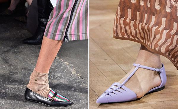 Ίσια και μυτερά παπούτσια