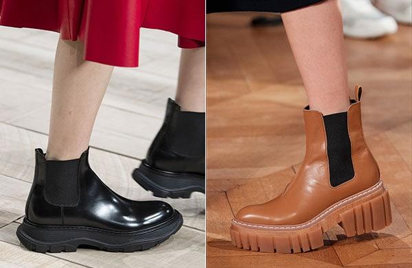 Μπότες μέχρι τον αστράγαλο με λάστιχο