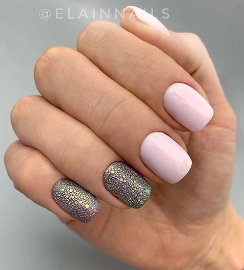Ροζ summer bubble nails