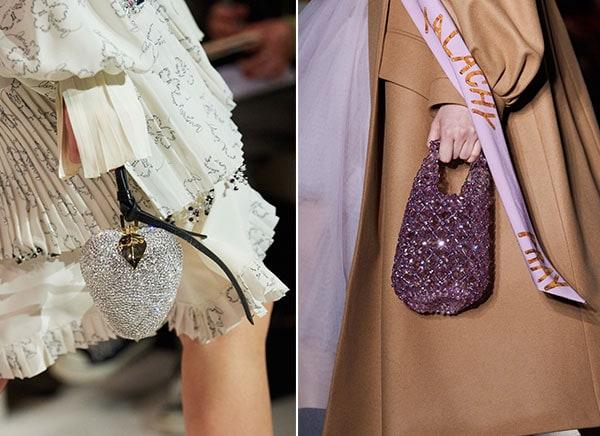 Λαμπερές και glamorous τσάντες