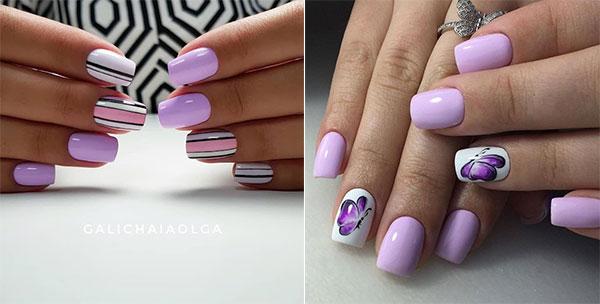 Λιλά χρώμα στα νύχια