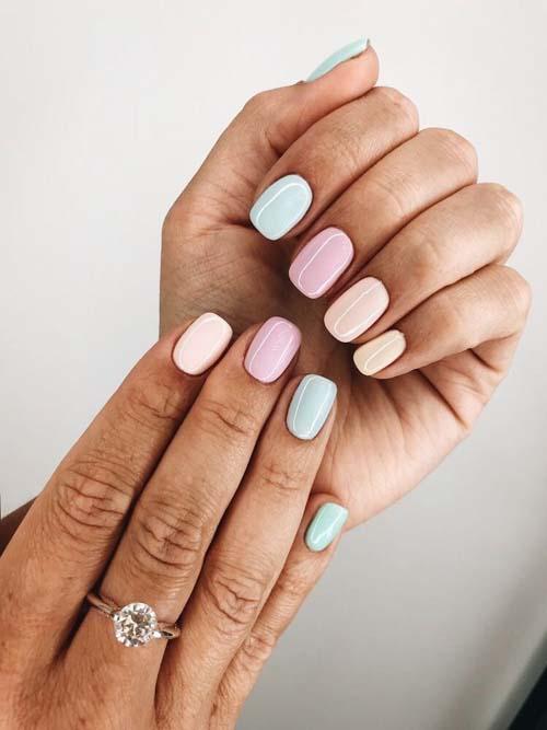 Απαλά παστέλ χρώματα στα νύχια