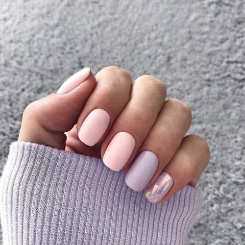 Μανικιούρ σε ροζ - λιλά χρώματα