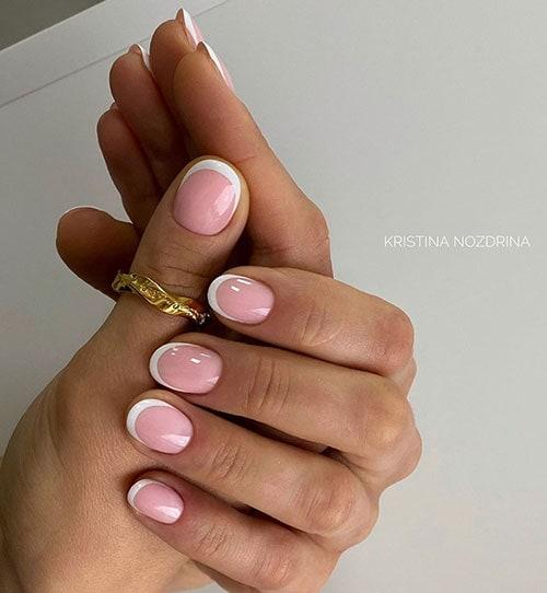 Ροζ γαλλικό στα νύχια