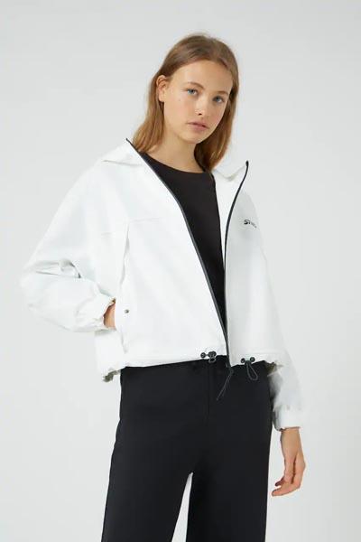Άσπρο κοντό αδιάβροχο μπουφάν - Pull&Bear