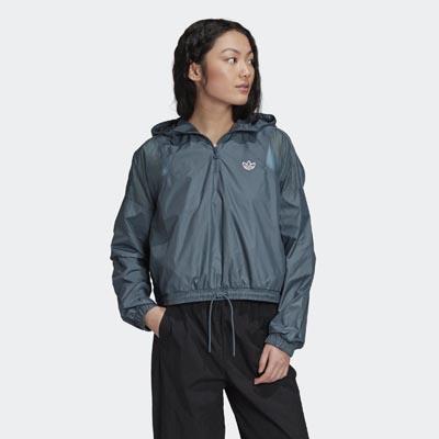 Cropped αντιανεμικό γυναικείο μπουφάν - Adidas
